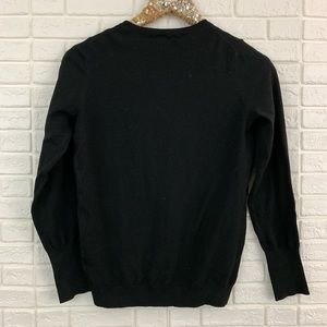 Philosophy Sweaters - Philosophy solid black button front cardigan knit